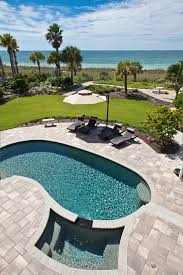 Chaise Lounge Pool Outdoor Chaise Lounge Pool Tropical With Gravel Walkway Curved Pool