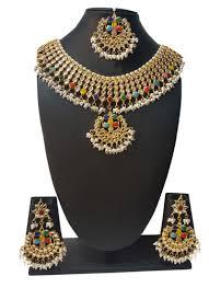necklace online store images Buy multicolored navratna beads n kundan necklace set beads jpg