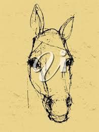 clip art illustration of a horse u0027s head