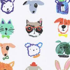 funky u0026 quirky illustrated animal characters blackout roller blinds