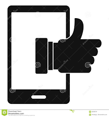 super phone icon simple style stock vector image 86389704