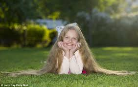 real children 10 year hair style simple karachi dailymotion the real life rapunzel 4 ft tall eight year old has 3ft long