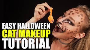 easy halloween cat makeup tutorial youtube