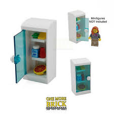 lego kitchen lego fridge kitchen fridge with food items pizza milk etc all