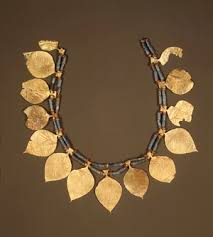 headdress with leaf shaped ornaments 2600 2500 b c early