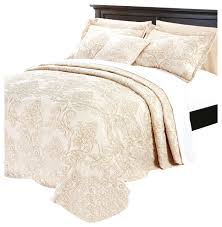 jocelyn damask embroidered 4 quilted bedspread set