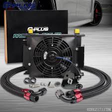 oil cooler fan kit 28 universal row transmission engine oil cooler an10 7 12v