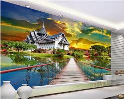aliexpress com buy custom mural photo 3d room wallpaper thai aliexpress com buy custom mural photo 3d room wallpaper thai architectural home decoration painting picture 3d wall murals wallpaper for wall 3 d from