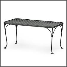 Wrought Iron Patio Side Table Woodard Wrought Iron Patio Coffee Table Patios Home Decorating