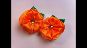 the hairband the decoration on the hairband kanzashi orange flower of four