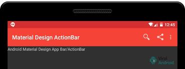 tutorial android menu bar android material design actionbar app bar how to make custom