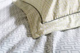zen printed cotton bedding natural bed company