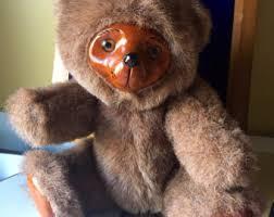 wooden faced teddy bears vintage stuffed bears etsy