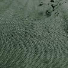 Fabric For Sofas by Greta Marsh Green Plain Linen Fabric