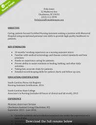 cna resumes exles cna resume exles skills for cnas assistant