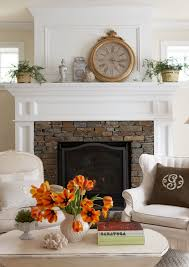 Stacked Stone Around Fireplace by Keep Molding Casing Around Fireplace But Maybe Replace The Tiles