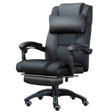 Reclining Office Chair With Footrest Home Office Executive Computer Chair Footrest Recliner Racing Lift