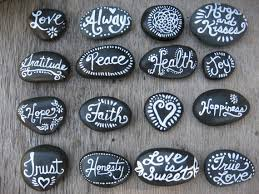 Wishing Rocks For Wedding Set Of 16 Painted Rocks Stones Wedding Favors Wishing Natural