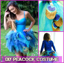 Peacock Halloween Costume Girls Diy Halloween Costume Ideas Tutorials