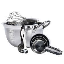 Basic Kitchen Essentials 10 Piece Stainless Steel Mix U0026 Measure Set By Basic Essentials