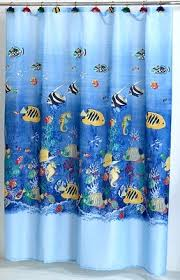 Fish Curtains Sealife Tropical Fish Fabric Shower Curtain Linens4less
