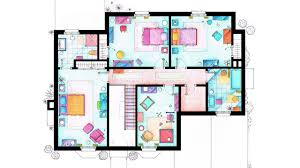 Floor Plan Image An Interior Designer Explains The Unlikely Apartments Of U201cfriends