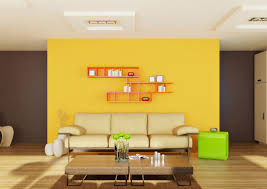 yellow accent wall in living room decor crave