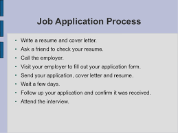 Job Application And Resume by Esl Job Interview