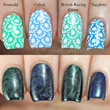 copycat claws girly bits stamping polish and plate review