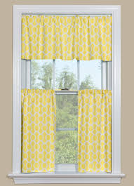 Yellow Kitchen Curtains Valances Yellow Kitchen Curtains With A Geometric Design