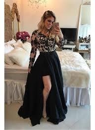 appliques sheath detachable skirt long sleeves short black