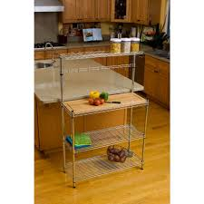 Bakers Rack Shelves Trinity 60 5 In H X 14 In W X 36 In D In 3 Tier Steel Baker U0027s