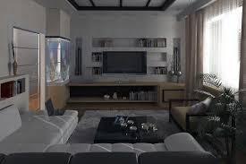 living room blue beige brown color scheme cherry wood sofa table