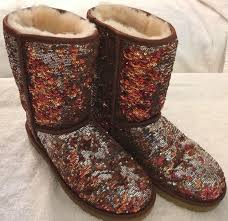 uggs womens boots on ebay ugg australia sparkles womens boots autumn brown 10