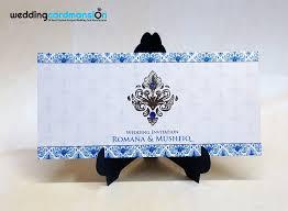 Damask Wedding Invitations Blue Damask Wedding Invitation Wc358 U2013 Wedding Card Mansion
