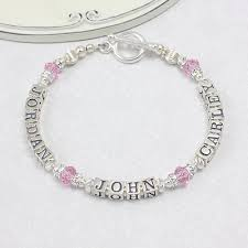 Name Engraved Bracelets Multi Name Personalized Bracelets