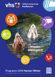 Plana K Hen Programm Herbst Winter 2017 18 By Vhs Im Norden Des Landkreises