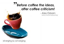before coffee the ideas after