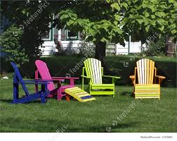 Wooden Outside Chairs Colourful Wooden Lawn Chairs Stock Photo I1476881 At Featurepics