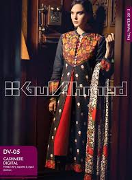 gul ahmed fall winter embroidered khaddar collection 2014 gul