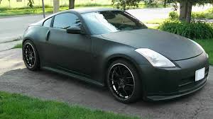 red nissan 350z modified nissan 350z matte black image 55