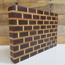 wood butcher block cutting board end grain brick pattern gift details wood butcher block cutting board