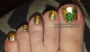 st patrick u0027s day inspired toe nail art laura ann