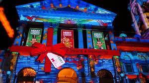 christmas light show at melbourne town hall youtube