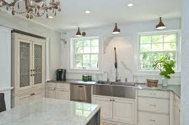 stainless steel apron sink linden ave home renovation traditional kitchen chicago by