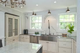 Kitchen With Farm Sink - stainless farm sink houzz