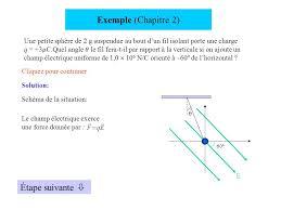 si e suspendu exemple chapitre 2 une sphère de 2 g suspendue au bout d un