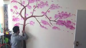 tree art mural painting living room wall decor youtube tree art mural painting living room wall decor