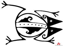 ancient frog tribal tattoo drawing clipart free clipart design