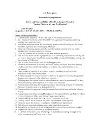 Household Manager Resume Housekeeping Responsibilities 21 Hotel Resume Example Examples For